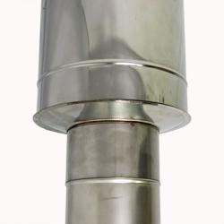 Заглушка со вставкой по дыму 150/250 / 0,5 мм AISI 304/430