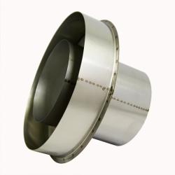 Заглушка со вставкой по конденсату 150/250 / 0,8 мм AISI 304/430