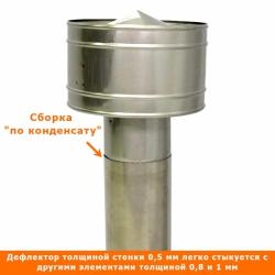 Дефлектор 115 мм AISI 304 с гофрой