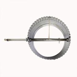 Шибер поворотный без изоляции 150 / 0,8 мм AISI 304