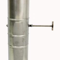 Шибер поворотный без изоляции 115 / 1,0 мм AISI 304