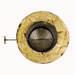 Шибер поворотный с изоляцией по дыму 150/250 / 0,8 мм AISI 304/430