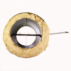 Шибер поворотный с изоляцией по конденсату 200/300 / 0,8 мм AISI 304/430