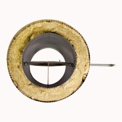 Шибер поворотный с изоляцией по дыму 200/300 / 1,0 мм AISI 304/430