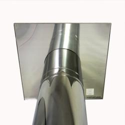 Фланец 250 мм под утеплитель 600х600x10 мм AISI 430