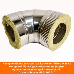 Отвод 90º с изоляцией 150/250 / 1 мм AISI 304/430