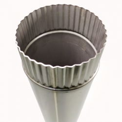 Труба без изоляции 1000 / 115 / 0,5 мм СШ AISI-304