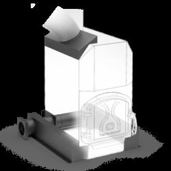 Отопительная печь ТОП-модель 200 с чугунной дверцей
