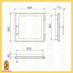 Печная дверца ДЕ 424-1С