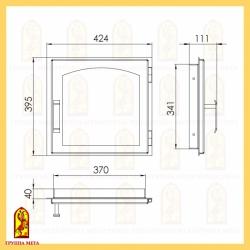 Печная дверца ДЕ 424-1А