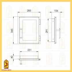 Печная дверца ДВ 285-1С