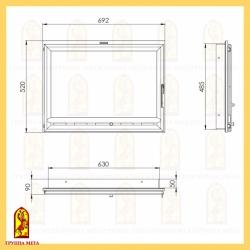 Каминная дверца ДК 700-1С (Оптима 701)