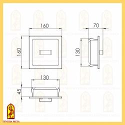 Дверь прочистная ДПР 160-01