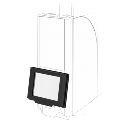 Дверца с жаростойким стеклом Robax 12