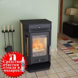 Дровяной печь-камин Москва 9 с плитой