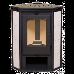 Дровяной печь-камин Одер 7 угловой