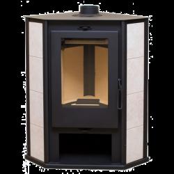 Дровяной печь-камин Одер 7 угловой с плитой