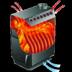 Отопительная печь ТОП-модель 200 со стальной дверцей