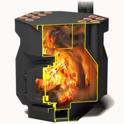 Отопительная печь ТОП-драйв 250 с чугунной дверцей